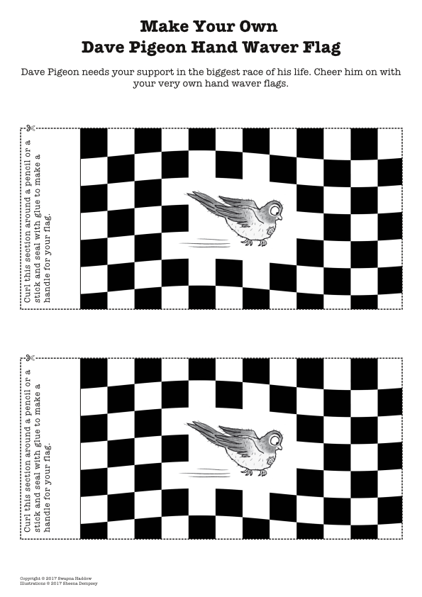 Make your own Dave Pigeon flags