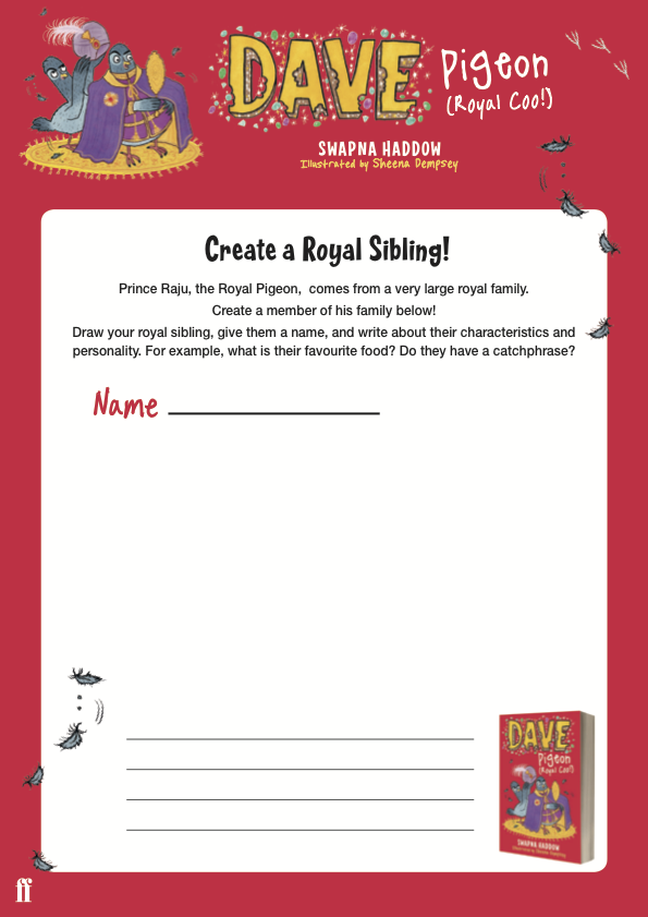 Create your own Royal Pigeon sibling