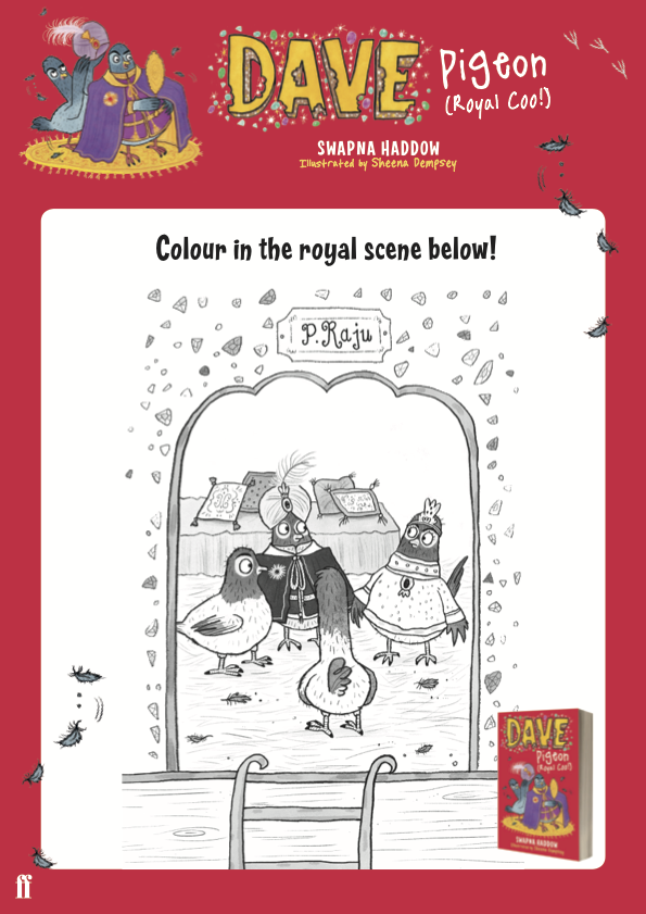 Colouring in activity sheet