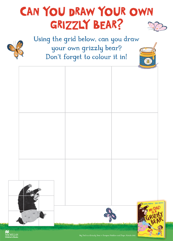 Draw your own Grizzly Bear