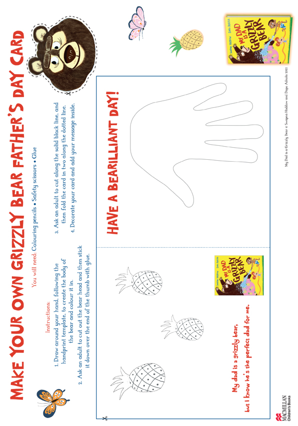 Make a Grizzly Bear Father's Day Card