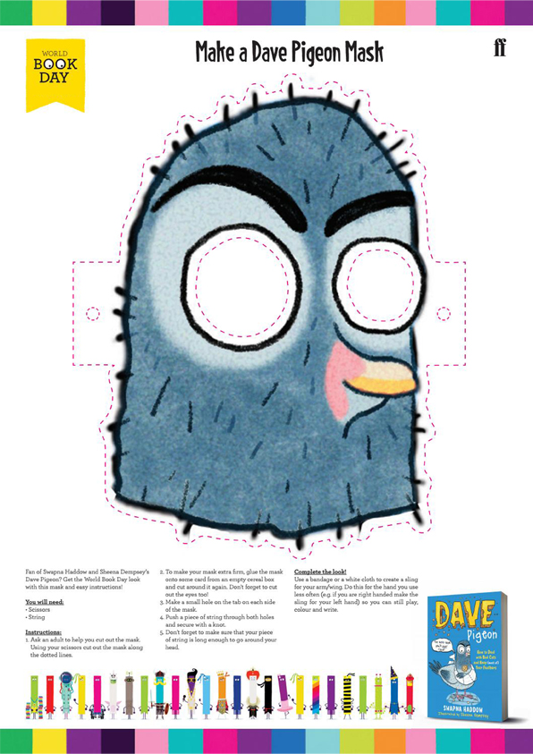 Make your own Dave Pigeon Mask