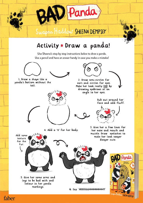 Draw your very own Bad Panda