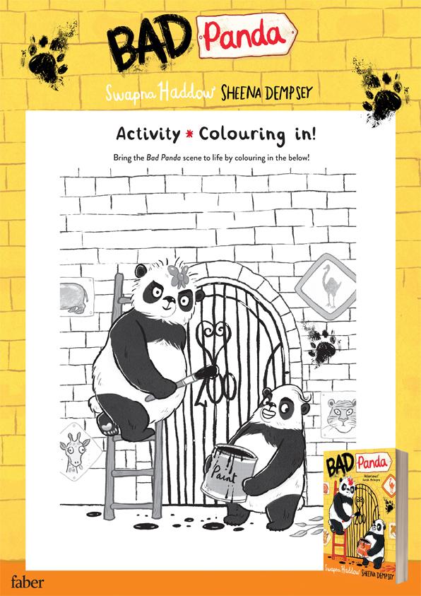 Bad Panda colouring in