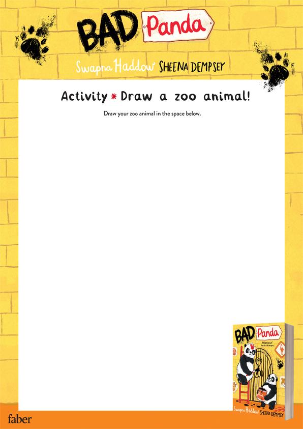 Draw a zoo animal