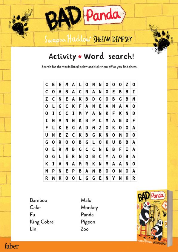 Bad Panda word search